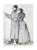 The Couple, Man with the Bowler Hat, C1870-1893 Reproduction procédé giclée par Guy De Maupassant