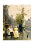 An October Morning in Amsterdam, C1895 Giclee Print by Hans Hermann