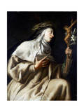 St Teresa of Avila before the Cross, C1621-1663 Giclee Print by Guido Cagnacci