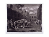 East End of Whitbread's Brewery, Chiswell Street, Islington, London, 1792 Giclee Print by George Garrard