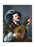 A Man Playing a Lute, 1624 Giclee Print by Hendrick Ter Brugghen