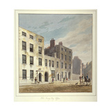 The Old Navy Pay Office, Old Broad Street, City of London, 1811 Giclee Print by George Sidney Shepherd