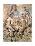 Study of Figures in Costume, C1635-1670 Giclee Print by Giovanni Benedetto Castiglione