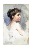Portrait of a Woman, C1873-1920 Giclee Print by Giacomo Mantegazza