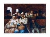 The Third Class Carriage, C1863-1865 Giclee Print by Honoré Daumier