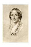 Elizabeth Gaskell, British 19th Century Novelist Giclee Print by George Richmond