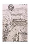 Map of London, 1560 Giclée-Druck von George Vertue