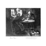Burns' Grace, Late 19th Century Giclée-tryk af Henry John Dobson