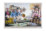 A Peace Offering to the Genius of Liberty and Equality, 1794 Giclee Print by Isaac Cruikshank