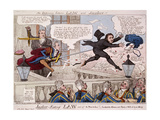 The Difference Between Law and Justice, 1809 Giclee Print by Isaac Cruikshank
