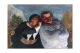 Crispin and Scapin, C1863-1865 Giclee Print by Honoré Daumier