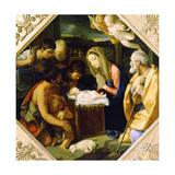 The Adoration of the Christ Child, C1640 Reproduction procédé giclée par Guido Reni