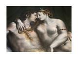 Love Scene, 16th Century Giclée-tryk af Romano, Giulio