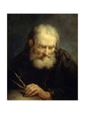 Archimedes, 18th Century Giclée-tryk af Giuseppe Nogari