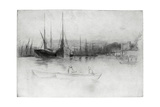 Steamboats Off the Tower, 1875 Giclee Print by James Abbott McNeill Whistler