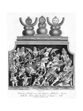 Victory of Cali over the Giant Mahish A'Sura, with the Idols of the Temple of Jagannath, 1809 Giclee Print by J Chapman