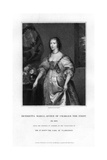 Queen Henrietta Maria, Queen Consort of Charles I Giclee Print by Henry Thomas Ryall