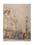 View of Smithfield Market, City of London, 1844 Giclee Print by George Sidney Shepherd