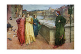 Dante and Beatrice, 1883 Giclee Print by Henry Holiday