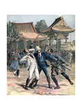 Failed Assassination of Tsarevich Nicholas of Russia, Otsu, Japan, 1891 Giclee Print by Henri Meyer