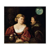 Seduction (Old Man and a Young Woma), 1515-1516 Giclee Print by Giovanni Cariani