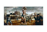 The Martyrdom of St Sebastian, 16th Century Giclee Print by Gregorio Lopez