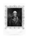 Samuel Barrington, British Admiral, 19th Century Giclee Print by Henry Thomas Ryall