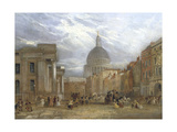 The Old General Post Office and St Martin's Le Grand, 1835 Giclee Print by George Sidney Shepherd