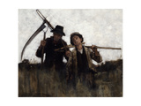 Farm Labourers, (1875-1929) Giclee Print by Henry Herbert La Thangue