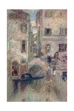 A Bye Canal, Venice, 19th Century Giclee Print by James Abbott McNeill Whistler