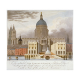 Proposed Riverfront Access to St Paul's Cathedral, City of London, 1826 Giclee Print by GS Tregear