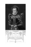 Queen Mary I of England Giclee Print by Henry Thomas Ryall