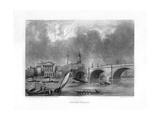 London Bridge, London, 19th Century Giclee Print by J Woods