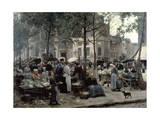 Les Halles, Paris 'Central Market', 1880 Giclee Print by Gilbert Victor Gabriel