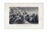 King Alfred Inciting the Anglo-Saxons to Repel the Invasion of the Danes Giclee Print by Herbert Bourne