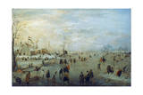 Winter Landscape, 1630-1634 Giclee Print by Hendrick Avercamp
