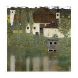 Gustav Klimt - Castello Sul Lago Atter, (Castle Unterrach on the Attersee) 1908 Digitálně vytištěná reprodukce