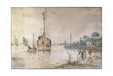 A Barge with Hay, C1625-C1634 Giclee Print by Hendrick Avercamp