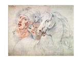 Study of a Horse and Two Soldiers, Early 17th Century Giclee Print by Giuseppe Cesari