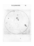 Galileo's Observation of Sunspots, 1613 Giclee Print by Galileo Galilei