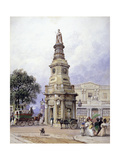 Monument to George Iv, Battle Bridge (Now King's Cros), London, 1835 Giclee Print by George Sidney Shepherd