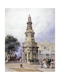 Monument to George Iv, Battle Bridge (Now King's Cros), London, 1835 Giclee Print by George Sidney Shepherd