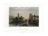 Melon Islands, and Irrigating Wheel, China, C1840 Giclee Print by Henry Adlard