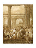 Feast in the House of Simon, 18Th/Early 19th Century Giclee Print by Giovanni Domenico Tiepolo