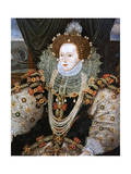 Elizabeth I, Queen of England and Ireland, C1588 Giclee Print by George Gower