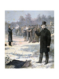 The Duel Between Paul Deroulede and Georges Clemenceau, 1893 Giclee Print by Henri Meyer