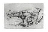 Child on a Couch, 19th Century Giclee Print by James Abbott McNeill Whistler