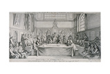 Meeting in the Guildhall Council Chamber, City of London, 1750 Giclee Print by Hubert Francois Gravelot