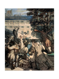 Camille Desmoulins in the Palais Royal Gardens, 1848-1849 Giclee Print by Honoré Daumier