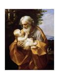 Saint Joseph with Infant Christ, 1620S Wydruk giclee autor Guido Reni